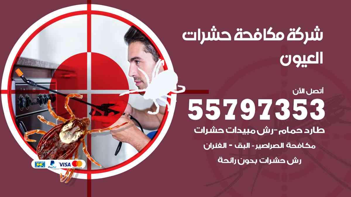 شركة مكافحة حشرات وقوارض العيون / 50050647 / رش الصراصيروالبق والفئران