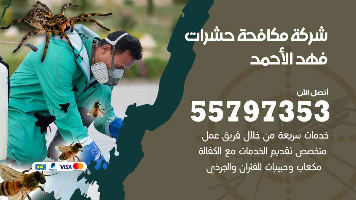 شركة مكافحة حشرات وقوارض فهد الأحمد / 50050647 / رش الصراصيروالبق والفئران